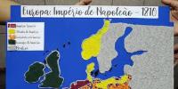 Mapa da Europa do Império de Napoleão em 1810.